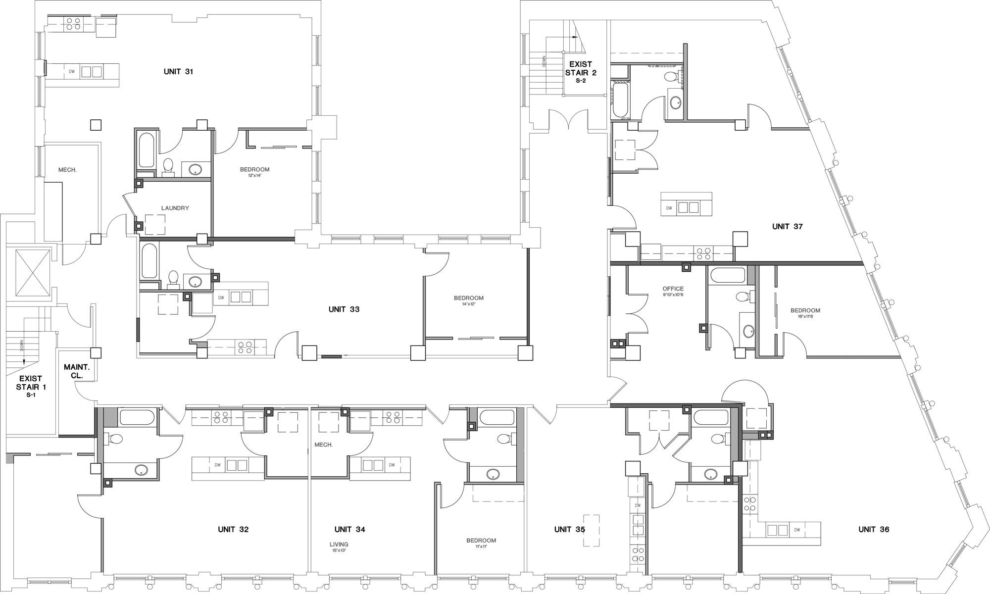 Mutual Building Third Floor Plan